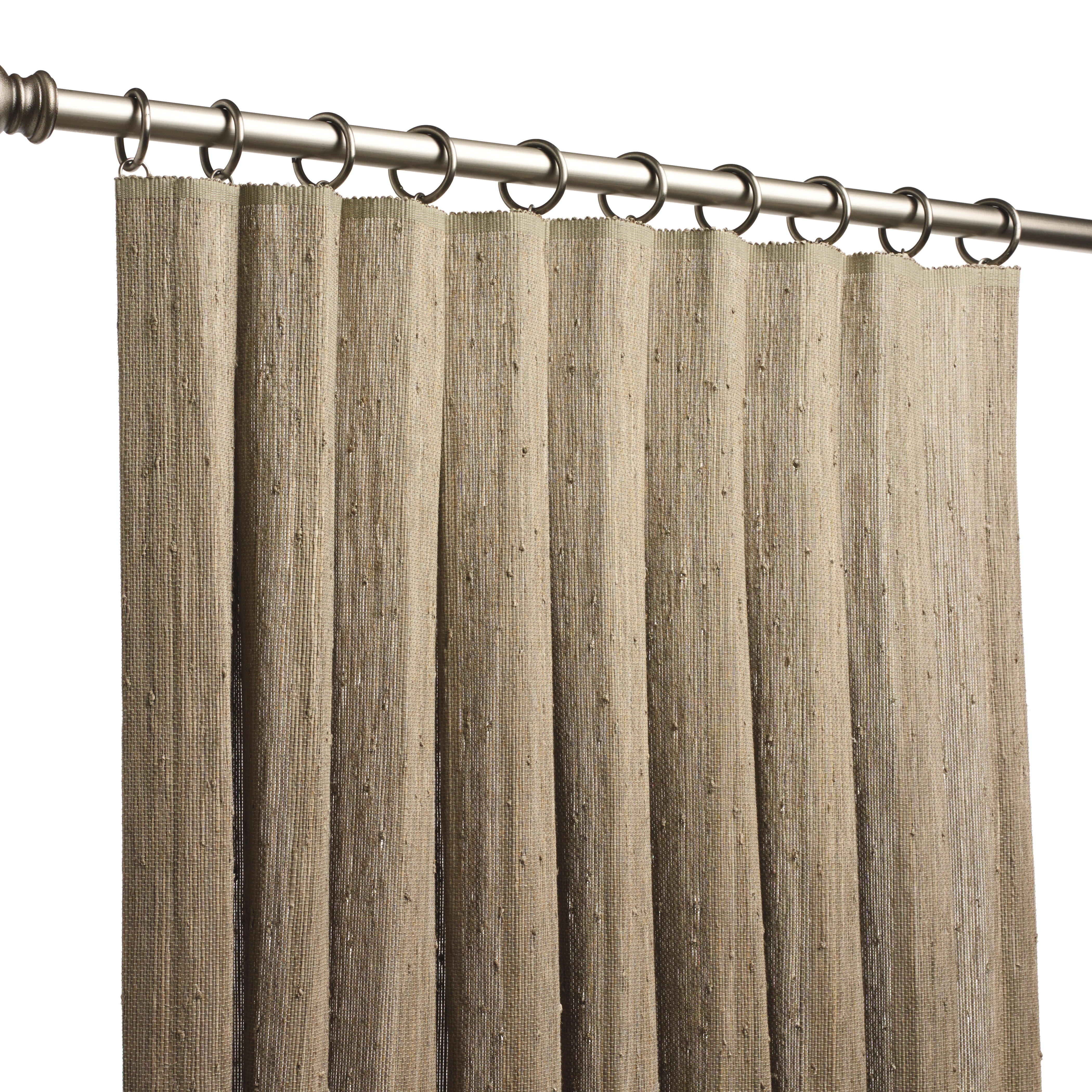 Natural woven drapery hartmannforbes for Roller pleat curtains