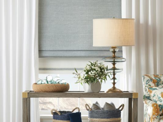 natural woven shade style banner