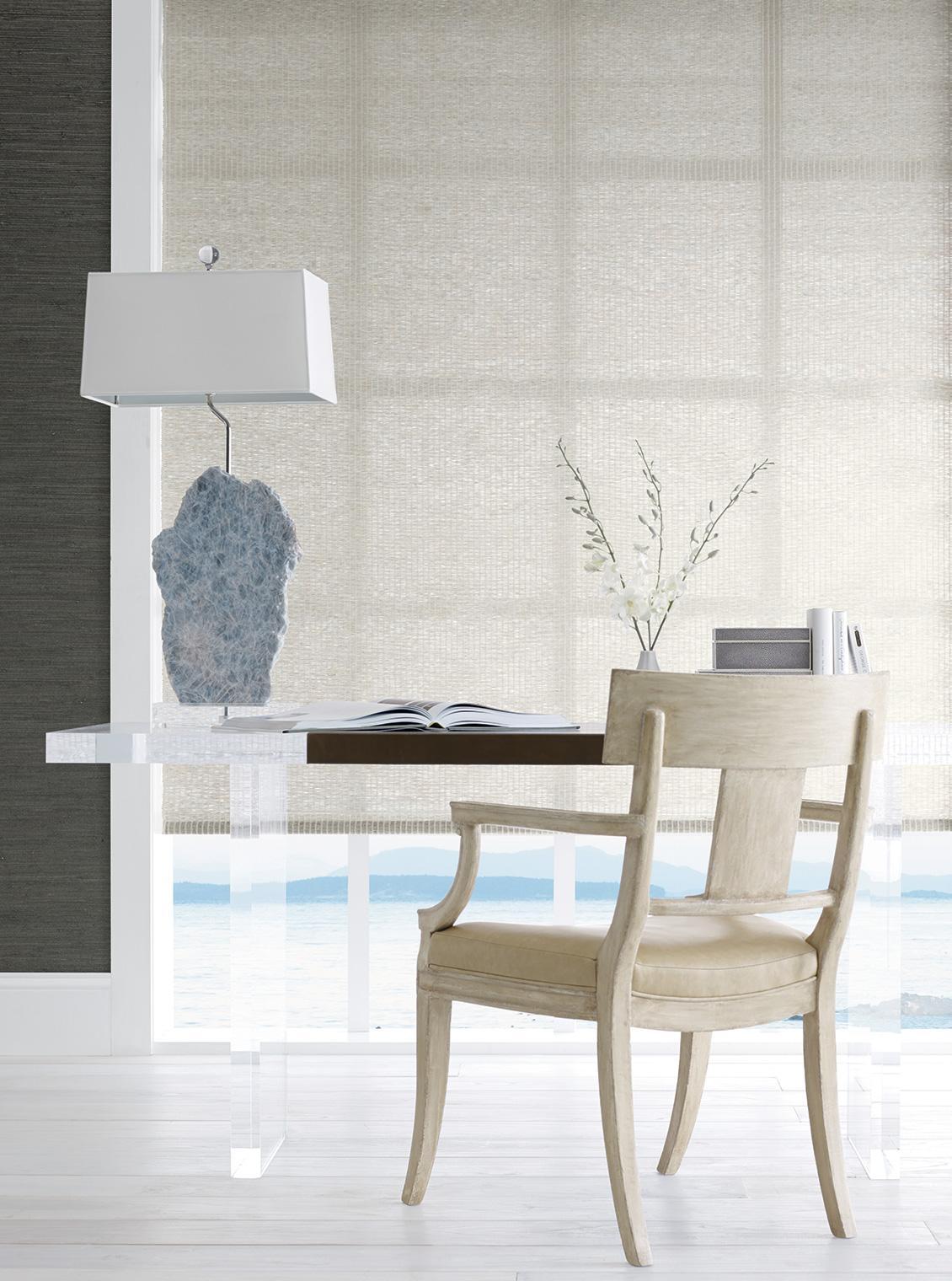 PE604-36 Contented Grey   Chair - Palecek, Table - MTD Showroom