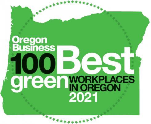 Oregon Business 100 Best Green Workplaces in Oregon 2021 Logo