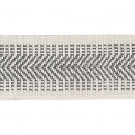 TBC15 Chevron Border Trim Muslin